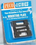 Peco PL28 Mounting plates - reduced further